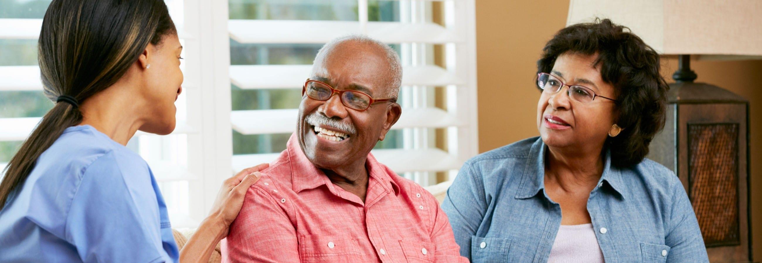 Caregiver with seniors