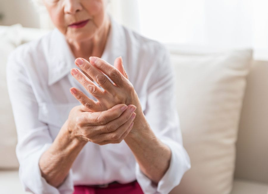senior woman with joint pain